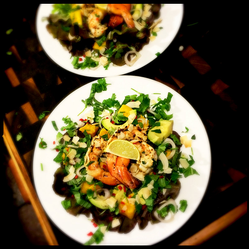 BBQ-prawn-and-thai-mango-salad