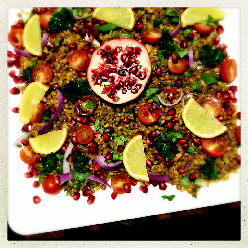 lentil-freekeh-pomegranate-salad